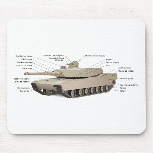 M1 Abrams Tank Mouse Pad