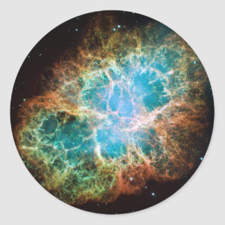 M1-Crab Nebula a Science & Astronomy Gift Idea Round Stickers