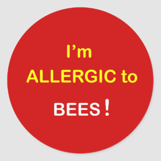 m1 - I'm Allergic - BEES. Round Sticker