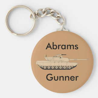 M1A1 Abrams Basic Round Button Key Ring