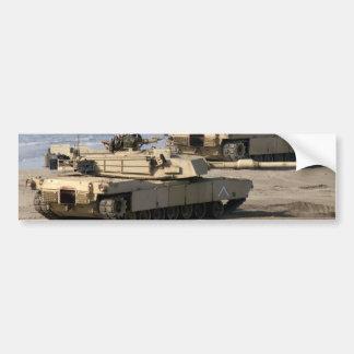M1A1 Abrams Tank Car Bumper Sticker
