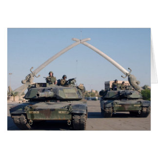 M1A1 Abrams Tank Greeting Card