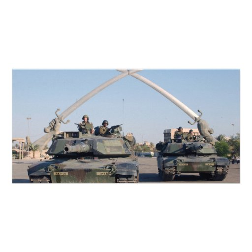 M1A1 Abrams Tank Picture Card