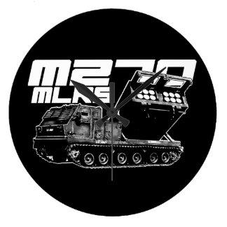 M270 MLRS Round (Large) Wall Clock