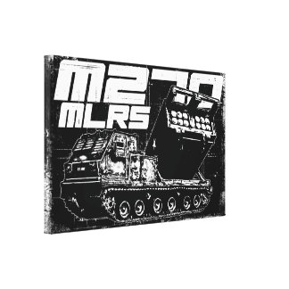 M270 MLRS Wrapped Canvas Stretched Canvas Print