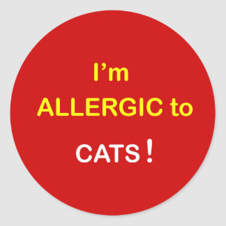 m2 - I'm Allergic - CATS. Classic Round Sticker