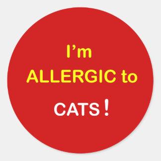 m2 - I'm Allergic - CATS. Round Sticker