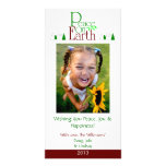 M2 Peace On Earth-White Holiday Xmas Cards Photo Cards