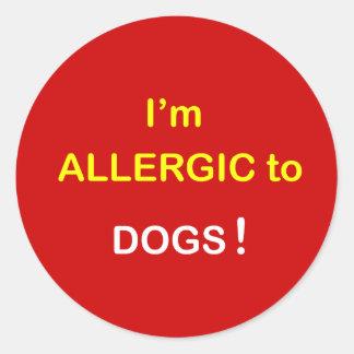 m3 - I m Allergic - DOGS Round Sticker