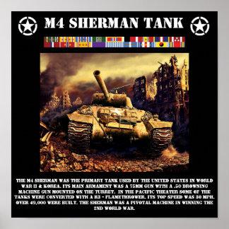 M4 Sherman Tank Print