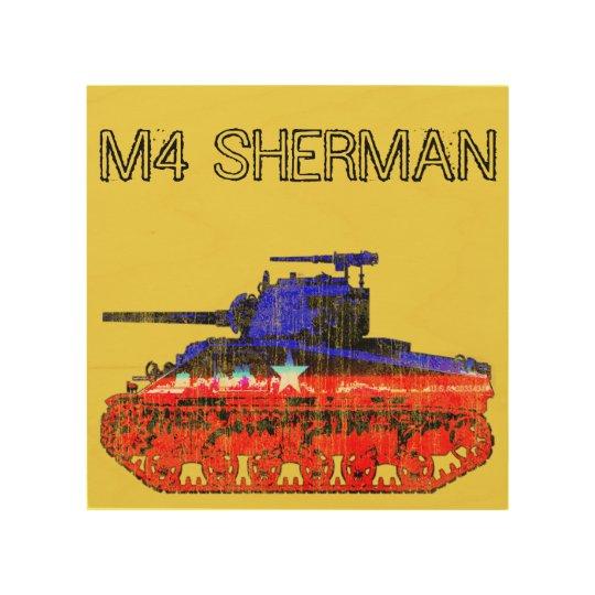 M4 Sherman Tank Wood Print