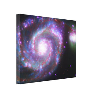 M51 Whirlpool Galaxy: A Classic Beauty Gallery Wrapped Canvas