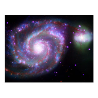 M51 Whirlpool Galaxy: A Classic Beauty Postcard