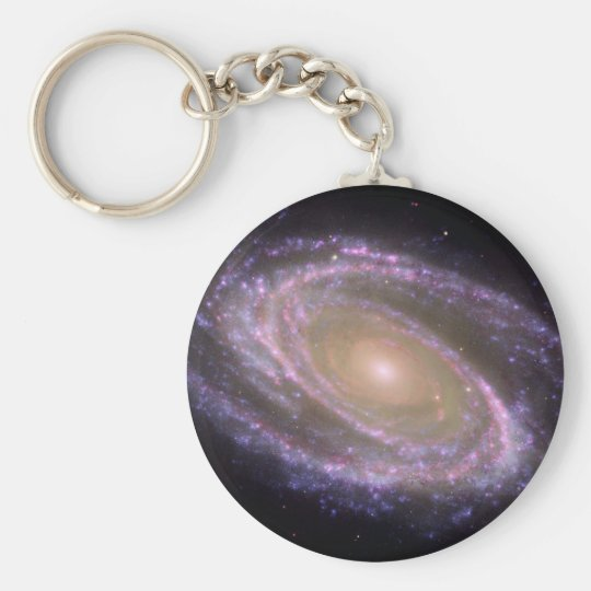 M81 Galaxy is Pretty in Pink Basic Round Button Key Ring