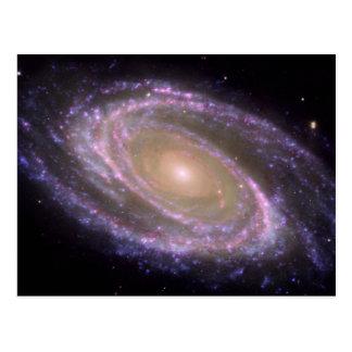 M81 Galaxy is Pretty in Pink Postcard