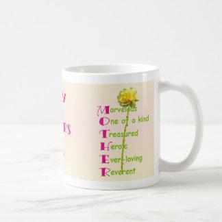 M-0-T-H-E-R_Acronym© Basic White Mug