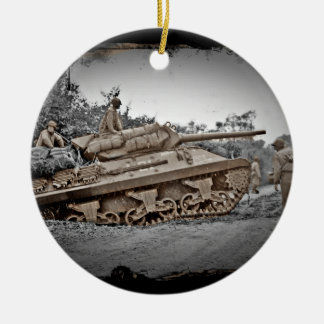 M-10 Tank Destroyer WWII Christmas Ornament