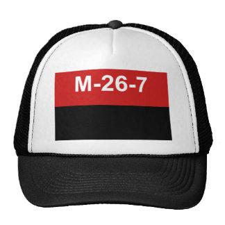 M-26-7 Flag -  Bandera del Movimiento 26 de Julio. Cap