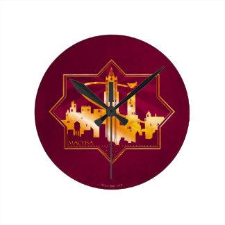 M.A.C.U.S.A. Graphic Badge Round Clock