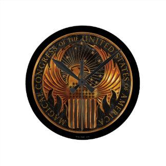 M.A.C.U.S.A. Medallion Round Clock