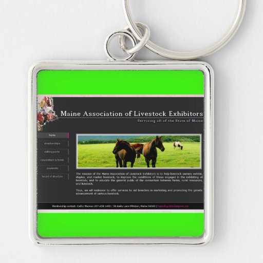 M.A.L.E: Maine Association of Livestock Exhibitors Keychains