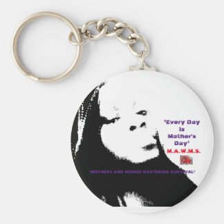 M.A.W.M.S. MOTHERS AND WOMEN MASTERING SURVIVAL KEY RING