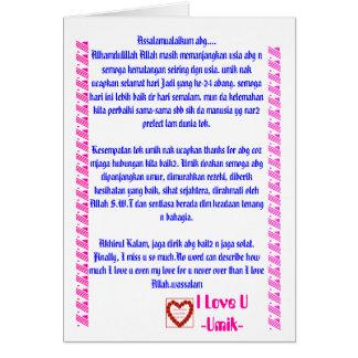 m, Assalamualaikum abg....Alhamdulillah Allah m... Greeting Card