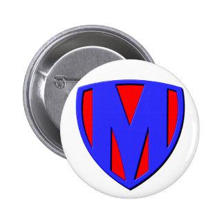 M 6 CM ROUND BADGE