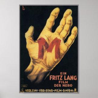 """M"" Classic 1931 Horror Movie Poster"
