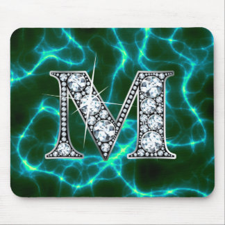 "M ""Diamond Bling"" Lightning Mousepad"