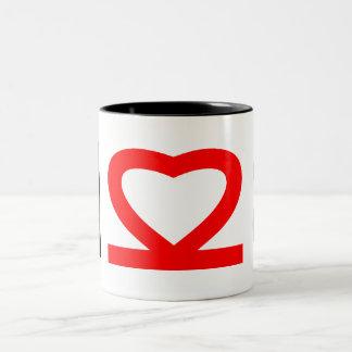 M Heart 8 Mug