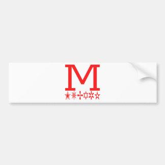 M Image Fashion Bumper Sticker