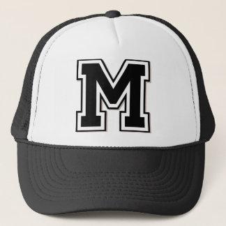 M Initial Trucker Hat