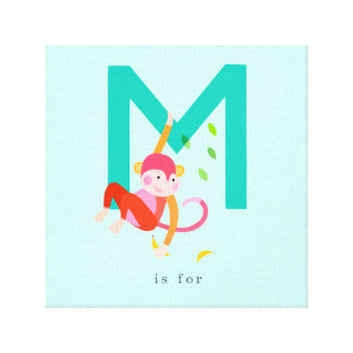 M is for... gallery wrap canvas