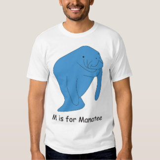 M is for Manatee Tshirt