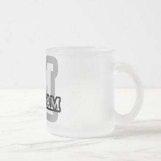 M is for Maryam Frosted Glass Mug