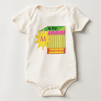 M is for Matches (2) Baby Bodysuit