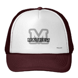 M is for Mathew Hat
