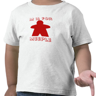 M is for Meeple kids shirt