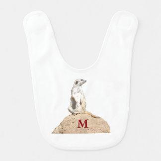 M Is For Meerkat Bib