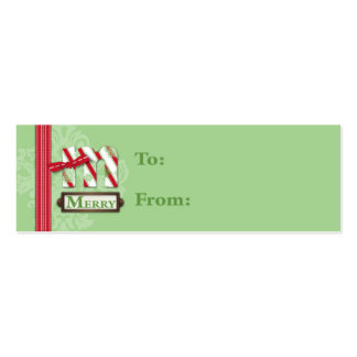 M is for Merry Skinny Gift Tag Pack Of Skinny Business Cards