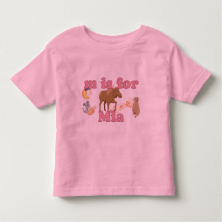 M is for Mia Toddler T-Shirt