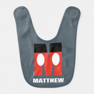 M is for Mickey | Add Your Name Bib
