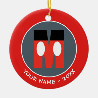 M is for Mickey | Add Your Name Christmas Ornament