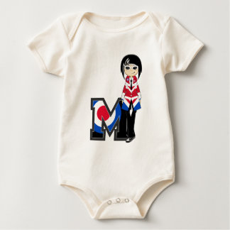 M is for Mod Baby Bodysuit