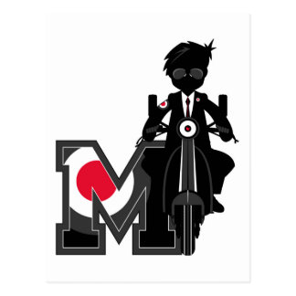 M is for Mod Post Card