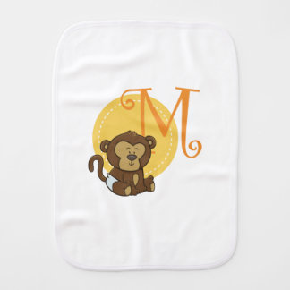M is for Monkey Burp Cloth