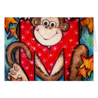 M is for Monkey Greeting Card