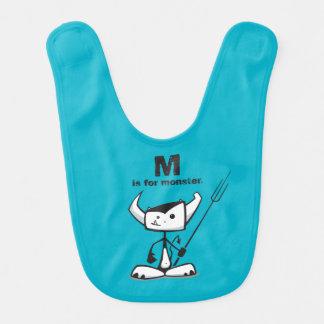 M is for Monster Bib