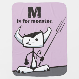 M is for Monster Baby Blanket